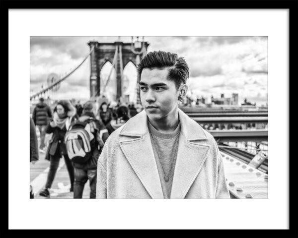 Martin Frick Fineart People of New York Brooklyn Bridge